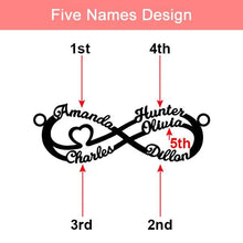 Load image into Gallery viewer, Personalized Infinity Name Necklace Sterling Silver SP13750 - Harajuku Kawaii Fashion Anime Clothes Fashion Store - SpreePicky