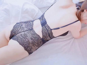 Pink/Black Pastel Lace Bow Lingerie SP13448