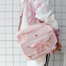 Load image into Gallery viewer, Pink/Black Sweet Baby Heart Cross Body Bag SP13416