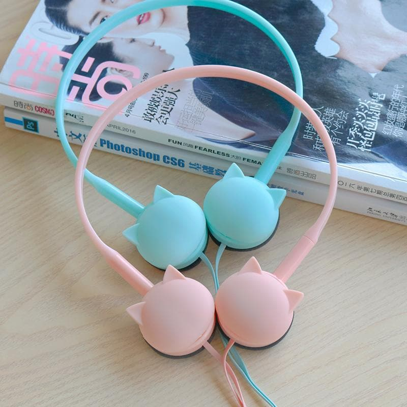 Pink/Blue/Black/White Pastel Mini Cat Headphones SP1710763