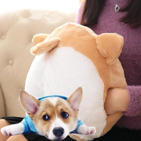 Pink/Blue/Brown Chibi Corgi Butt Cushion Toy SP1711295