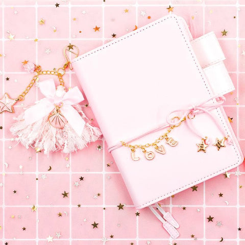 Pink/Blue/Mint/Yellow Star Love Notebook/Planner SP1710652