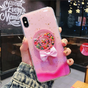 Pink/Blue Kawaii Bow Lollipop Phone Case SP13748