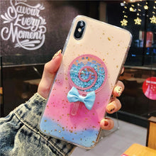 Load image into Gallery viewer, Pink/Blue Kawaii Bow Lollipop Phone Case SP13748