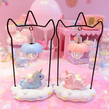 Load image into Gallery viewer, Pink/Blue Pastel Unicorn Decorative Lamp  SP13419