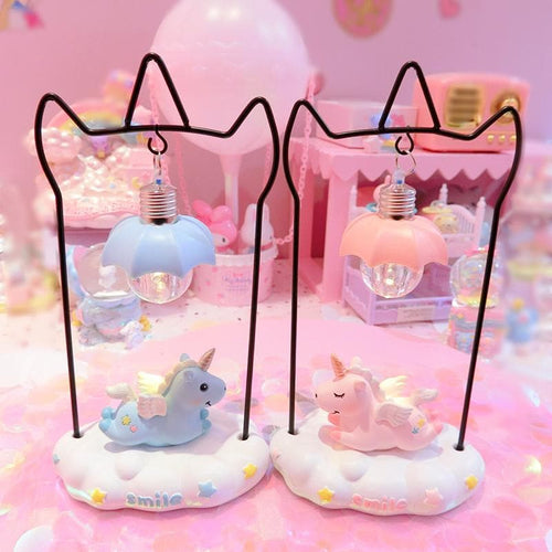 Pink/Blue Pastel Unicorn Decorative Lamp  SP13419