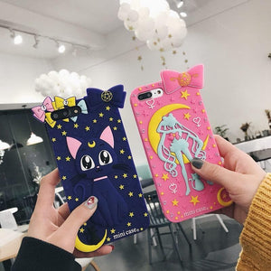 Pink/Purple Sailor Moon Usagi Luna Phone Case SP13708