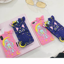 Load image into Gallery viewer, Pink/Purple Sailor Moon Usagi Luna Phone Case SP13708