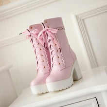 Load image into Gallery viewer, Final Stock! Pink/White/Black Lolita Elegant Boots SP168155