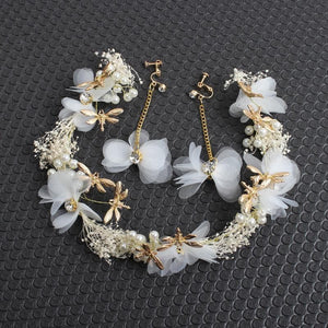 Pink/White Elegant Babysbreath Flower Headband SP1711049