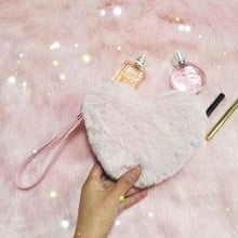 Load image into Gallery viewer, Pink/White Pastel Heart Plush Wallet SP1711556