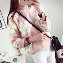 Load image into Gallery viewer, Pink/Yellow/Green Sweet Flower Pullover Jumper SP1710831