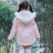 Load image into Gallery viewer, Pink Bunny Rabbit Print Cartoon Jackets S13043