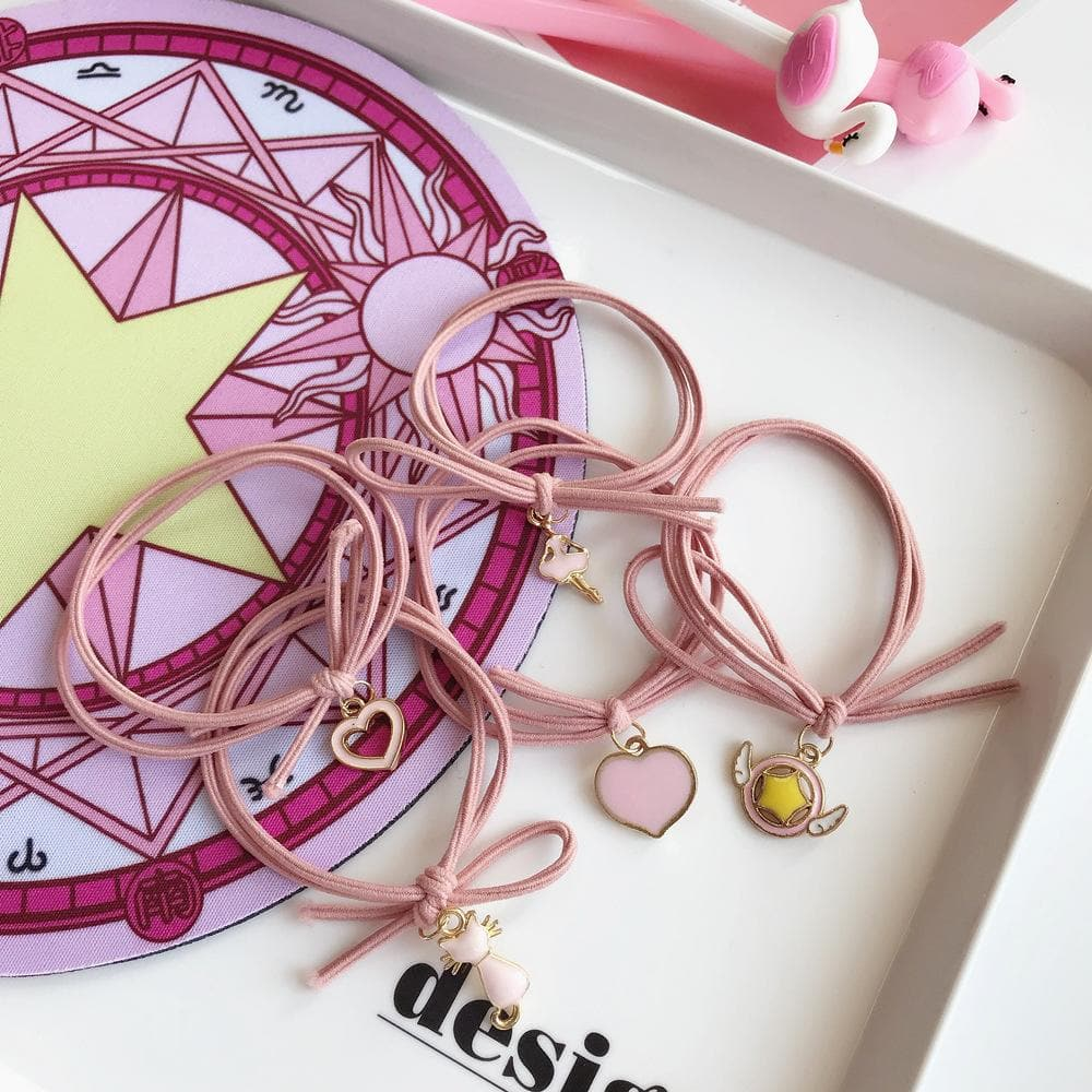 Pink Cardcaptor Sakura Kawaii Hair Ring SP1811785