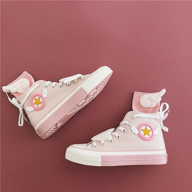 Pink Cardcaptor Sakura Wings Canvas Shoes SP14364
