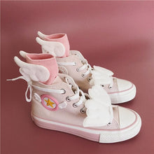 Load image into Gallery viewer, Pink Cardcaptor Sakura Wings Canvas Shoes SP14364