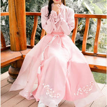 Load image into Gallery viewer, Pink Chinese Style Sakura Shirt/Skirt SP13571