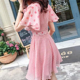 Pink Fairy Falbala Spot Dress SP13541