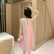 Load image into Gallery viewer, Pink Fiary Sleeveless Rainbow Dress SP14110