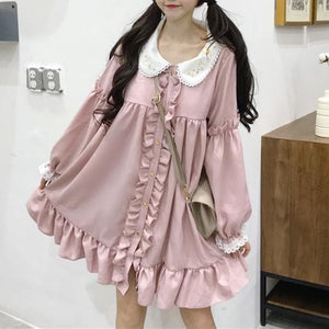 Pink Fungus Lace Embroidery Dress SP14270 - SpreePicky FreeShipping