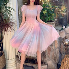 Load image into Gallery viewer, Pink Pastel Rainbow Tulle Dress SP14059