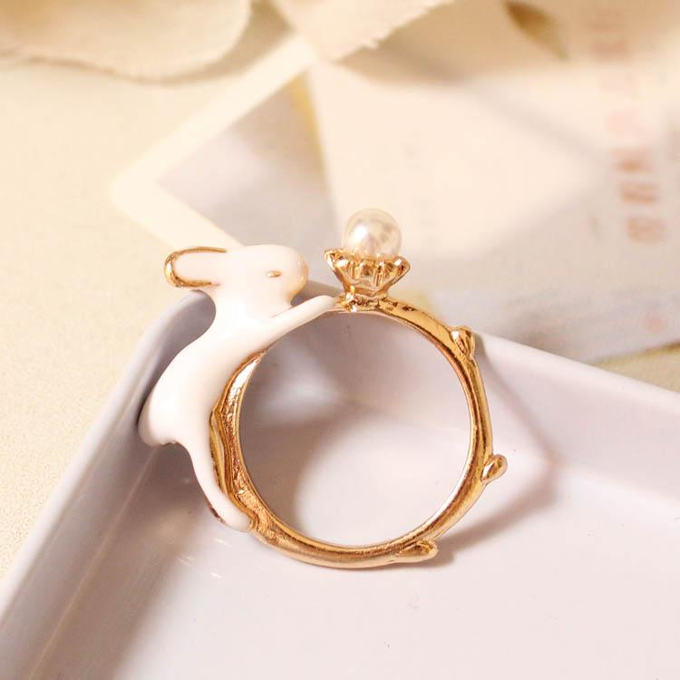 Playful Bunny Ring Bracelet SP179490