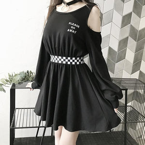 Please Go Away Black Dress S12875