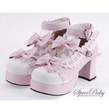 Load image into Gallery viewer, Plus Size Lolita Knotbow Joint Color Platform High Heel SP140531 - SpreePicky  - 4