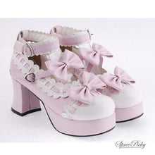 Load image into Gallery viewer, Plus Size Lolita Knotbow Joint Color Platform High Heel SP140531 - SpreePicky  - 1