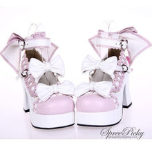 Load image into Gallery viewer, Plus Size Lolita Knotbow Joint Color Platform High Heel SP140531 - SpreePicky  - 2
