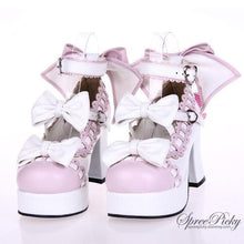 Load image into Gallery viewer, Plus Size Lolita Knotbow Joint Color Platform High Heel SP140531 - SpreePicky  - 3