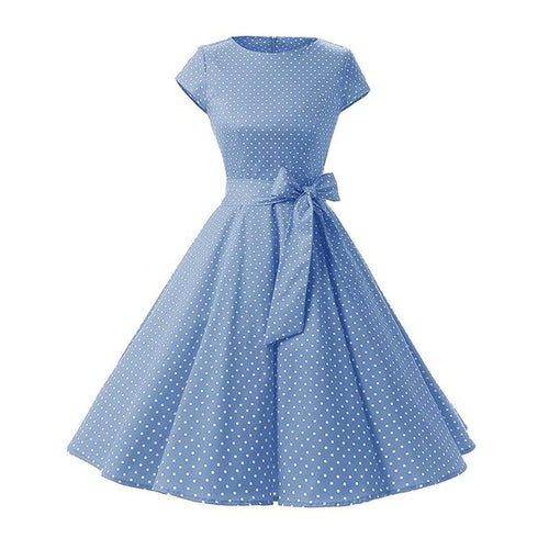 Polka Dot Swing Dress SP13921