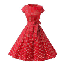 Load image into Gallery viewer, Polka Dot Swing Dress SP13921