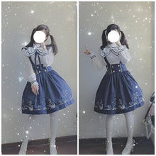Load image into Gallery viewer, Preppy Style Dolphin Lolita Suspender Skirt/Shirt SP1812042