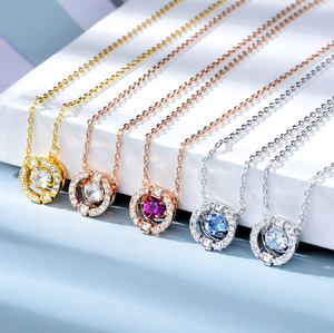 High-end Pulsatile Heart Alloys Crystal Necklace SP14014