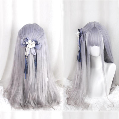 Purple Grey Harajuku Lolita Wig SP166221