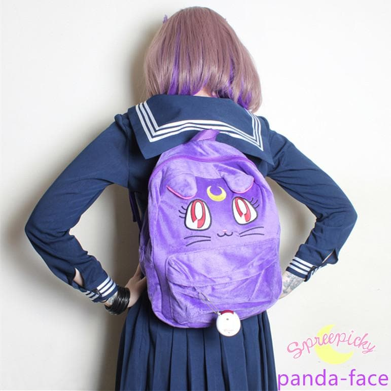 Sailor Moon Luna Fluffy Plush Backpack SP130267 - SpreePicky  - 1
