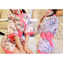 Load image into Gallery viewer, Harajuku Sakura Flower Kimono  Robe Bathrobe SP1812421