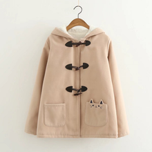Load image into Gallery viewer, Black/Pink/Khaki Kawaii Cat Ears Warming Hoodie Coat SP168312