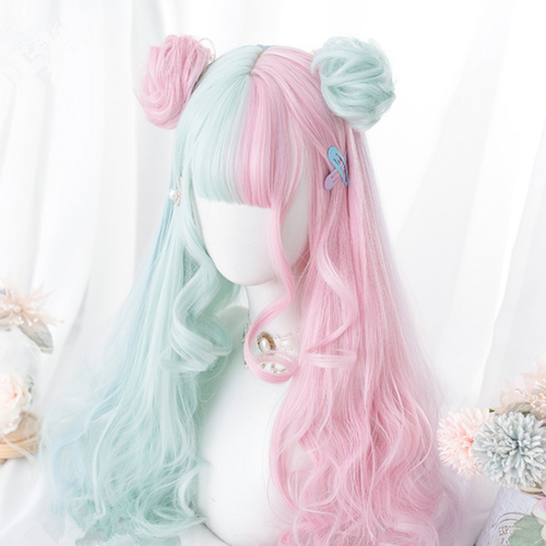 Macaron Lolita long curly hair SP163