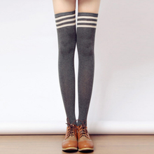 Load image into Gallery viewer, Tall Girls! 8 Colors Stripes Thigh High Long Socks SP153727