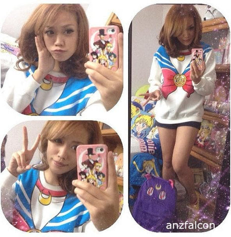 [M/XL]Sailor Moon Sweater Fleece Jumper SP130203 - SpreePicky  - 3