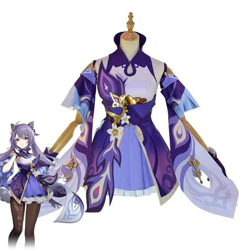 [ Reservation] Game Genshin Impact Keqing Cosplay Costume SP15311