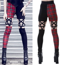 Load image into Gallery viewer, Punk Gothic Hollow Out Five-Pointed Star Women Pant Leggings S13001