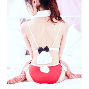 Red Bunny Sailor Bikini Lingerie Set SP14424
