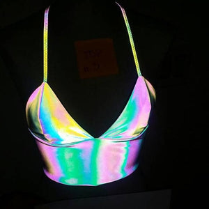 Reflective Hologram Camisole Top SP13978