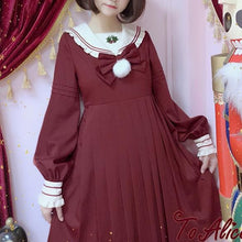 Load image into Gallery viewer, [Reservation] BlackRed Christmas Sailor Dress SP1711309