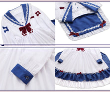 Load image into Gallery viewer, [Reservation] Falbala long Sleeve Sailor Dress SP13528