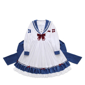 [Reservation] Falbala long Sleeve Sailor Dress SP13528