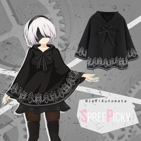 [Reservation] NieR:Automata 2B Ribbon Poncho Cape SP1710736